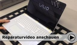 Topcover Tausch am Sony Notebook